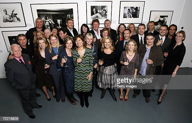 Guests attend a Blake 7 event at the Getty Images Gallery on October 18 2006 in London England Speakers at the dinner were photojournalists Terry...