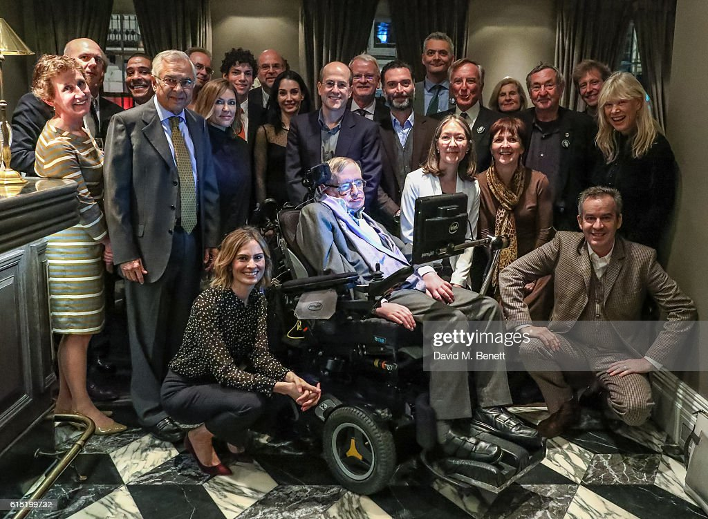 Guests attend a dinner at The Arts Club in honour of the Club presenting Professor Stephen Hawking with the Luminary Lifetime Membership Award on October 17, 2016 in London, England.
