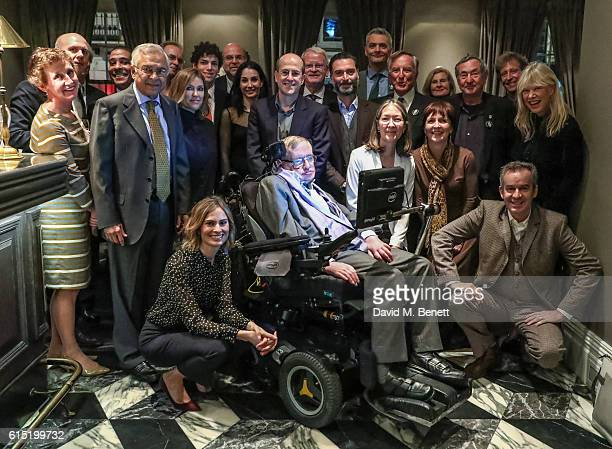 Guests attend a dinner at The Arts Club in honour of the Club presenting Professor Stephen Hawking with the Luminary Lifetime Membership Award on...