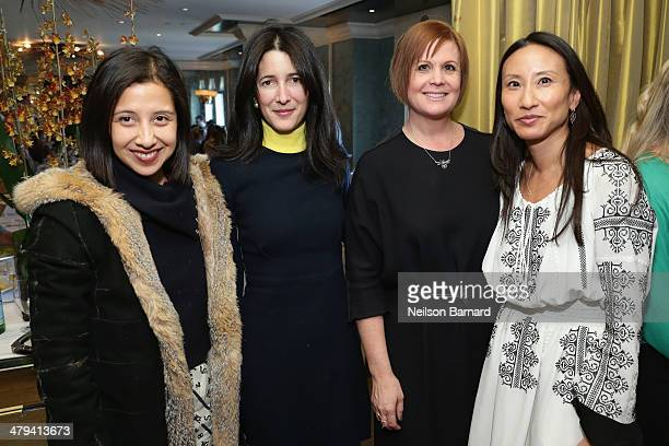 Guests attend a lunch in honor of jewelry designer Sabine Ghanem hosted by Leandra Medine and Elizabeth von der Glotz at BG Restaurant inside...