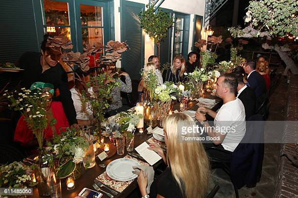 Guests attend a private dinner at the home of Jonas Tahlin CEO Absolut Elyx on September 29 2016 in West Hollywood California