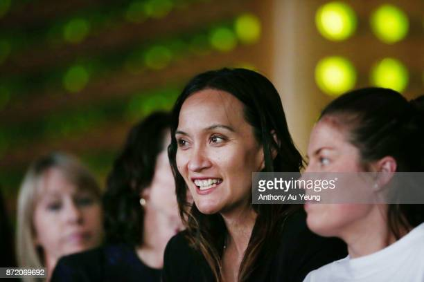 Guests attend a special pregame function prior to the round six NBL match between the New Zealand Breakers and the Perth Wildcats at Spark Arena on...
