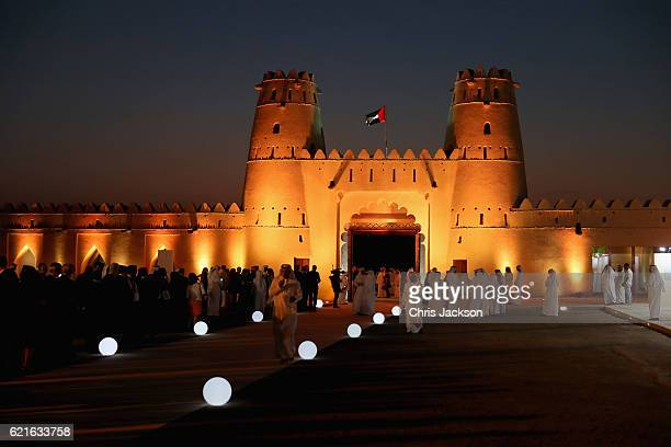 Guests attend a UK/UAE Year of Creative Collaboration Launch at Al Jahili Fort with Sheikh Mohammed Bin Zayed Al Nahyan on the second day of a Royal...