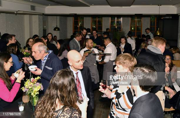 Guests attend after party for NY premiere of HBO's The Case Against Adnan Syed at Loring Place on February 26 2019 in New York City