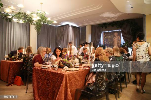 Guests attend afternoon tea with Her Royal Highness Princess Michael Of Kent at Knife Pleat on November 05, 2019 in Costa Mesa, California.