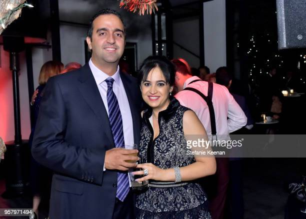 Guests attend Alexa Dell and Harrison Refoua's engagement celebration at Ysabel on May 12 2018 in West Hollywood California