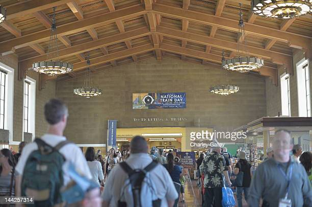 Guests attend Amtrak presents the 5th annual National Train Day held at Los Angeles Union Station on May 12 2012 in Los Angeles California