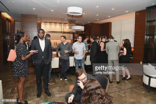Guests attend An Evening At One West End With chefs Mario Carbone And Rich Torrisi on June 13 2018 in New York City