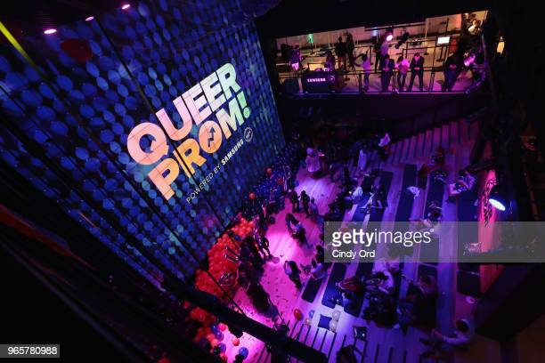Guests attend as BuzzFeed hosts its 2nd Annual Queer Prom Powered by Samsung For LGBTQ Youth at Samsung 837 on June 1 2018 in New York City