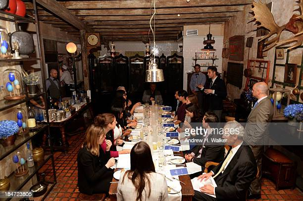 Guests attend as GREY GOOSE Vodka hosts an exclusive speakeasy at the Boulangerie Picardie on October 15 2013 in New York City