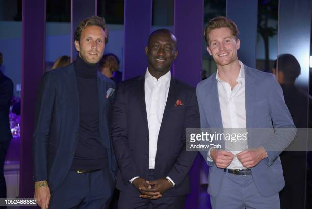 Guests attend as Hugo Boss Prize 2018 Artists Dinner at the Guggenheim Museum on October 18 2018 in New York City