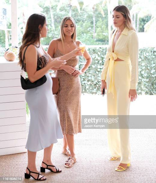 Guests attend as JNSQ Serves Its Rosé Cru And Sauvignon Blanc At The Miami Swim Week Influencer Brunch Hosted By Natasha Oakley And Devin Brugman at...