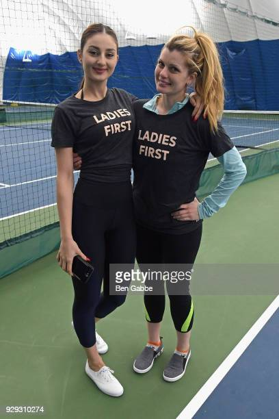 Guests attend as Keds celebrates International Women's Day with Violetta Komyshan at Manhattan Plaza Racquet Club on March 8 2018 in New York City