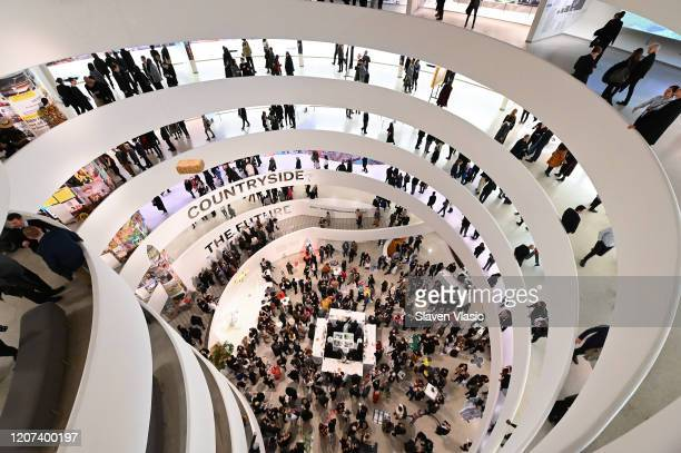 Guests attend as Lavazza continues to grow partnership with The Solomon R Guggenheim Museum in New York supporting the latest exhibition Countryside...