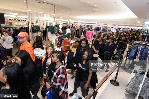 Guests attend as Taraji P Henson and NAMI celebrate Lord Taylor Charity Days on January 12 2019 in Schumburg Illinois