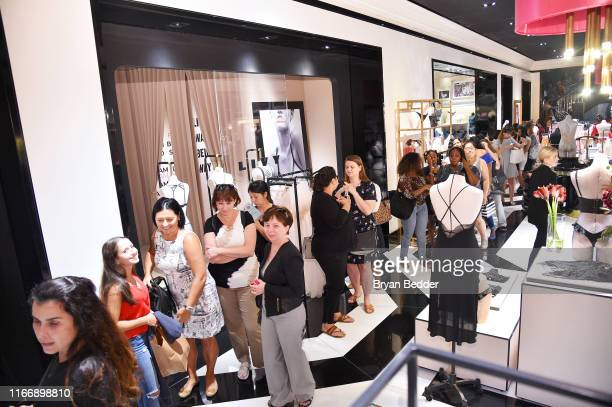 Guests attend as Victoria's Secret debuts new fall collection with Angel Grace Elizabeth on August 08 2019 in New York City