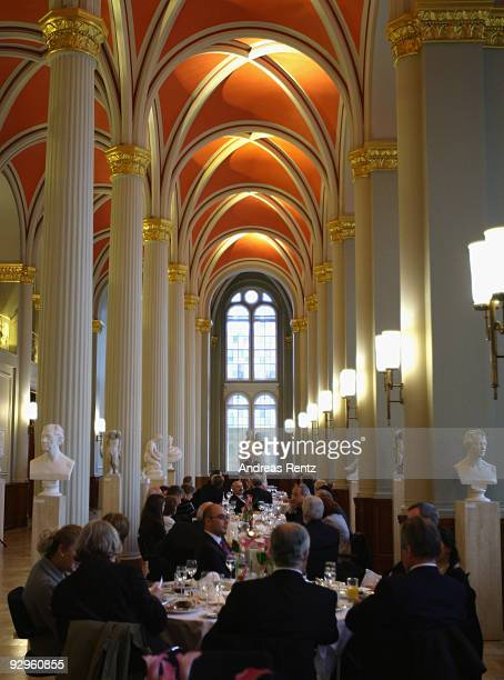 Guests attend at the 10th World Summit of Nobel Peace Laureates at Berlin town hall on November 10 2009 in Berlin Germany
