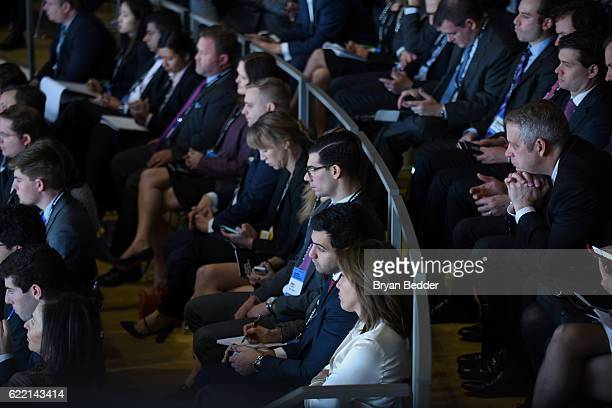 Guests attend at The New York Times DealBook Conference at Jazz at Lincoln Center on November 10, 2016 in New York City.