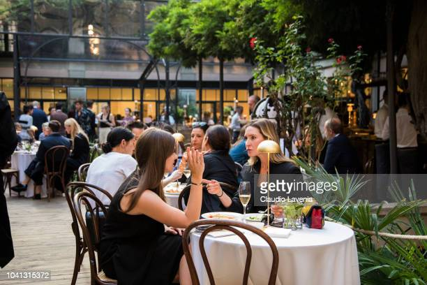 Guests attend Brunello Cucinelli presentation during Milan Fashion Week Spring/Summer 2019 on September 19 2018 in Milan Italy