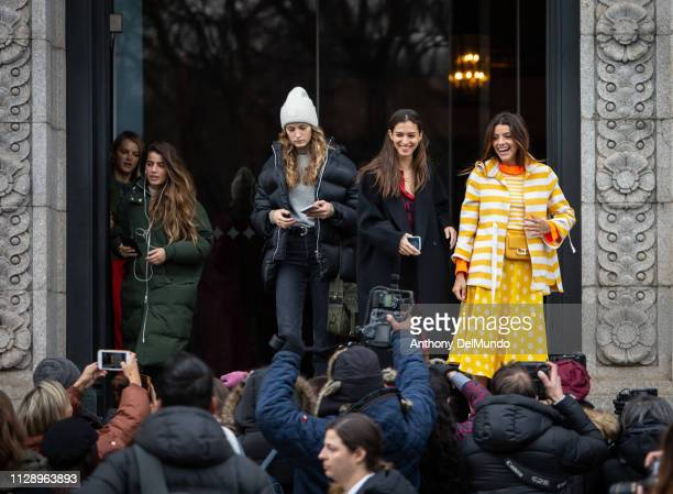 Guests attend Carolina Herrera fall 2019 runway show during New York Fashion Week held at New York Historical Society 170 Central Park West on...