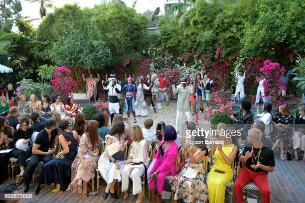 Guests attend CFDA/Vogue Fashion Fund Show and Tea at Chateau Marmont at Chateau Marmont on October 25 2017 in Los Angeles California