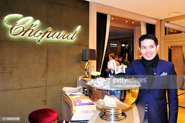 Guests attend Chopard's Happy Diamonds cocktail during Baselworld on March 16 2016 in Basel Switzerland