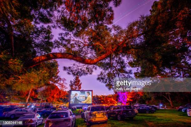 """Guests attend Cinespia's screening of """"Sleepless in Seattle"""" on February 14, 2021 in Los Angeles, California."""