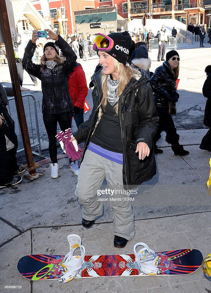 Guests attend Day 2 of Oakley Learn To Ride With AOL At Sundance on January 18, 2014 in Park City, Utah.