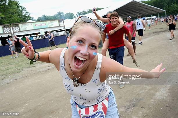 Guests attend day 2 of the Firefly Music Festival on June 19, 2015 in Dover, Delaware.