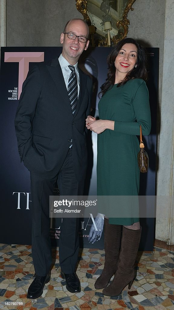 Guests attend Deborah Needleman's New York Times inaugural issue party during Milan Fashion Week Womenswear Fall/Winter 2013/14 on February 23, 2013 in Milan, Italy.