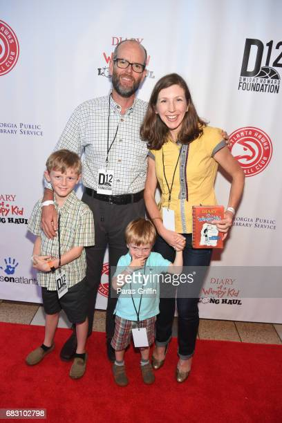 """Guests attend """"Diary Of A Wimpy Kid: The Long Haul"""" Atlanta screening hosted by Dwight Howard at Regal Atlantic Station on May 14, 2017 in Atlanta,..."""