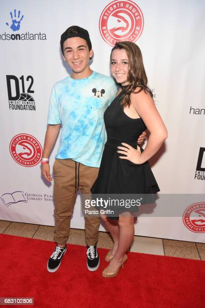 Guests attend Diary Of A Wimpy Kid The Long Haul Atlanta screening hosted by Dwight Howard at Regal Atlantic Station on May 14 2017 in Atlanta Georgia