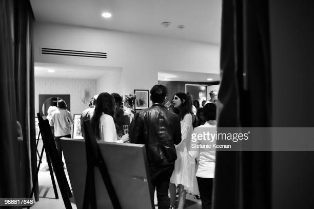 Guests attend Diesel Presents Scott Lipps Photography Exhibition 'Rocks Not Dead' at Sunset Tower on June 28 2018 in Los Angeles California