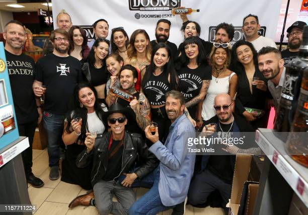 Guests attend Doom's Whiskey Tasting on June 22 2019 in Glendale California