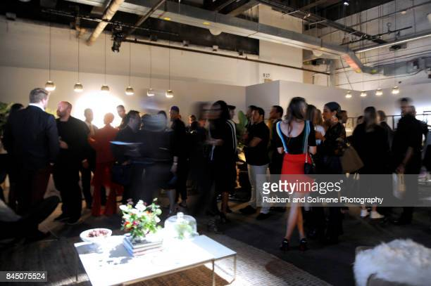 Guests attend Etihad Airways Celebrating Runway To Runway With Special Guest Julien MacDonald Obe at Skylight Clarkson Sq on September 7 2017 in New...