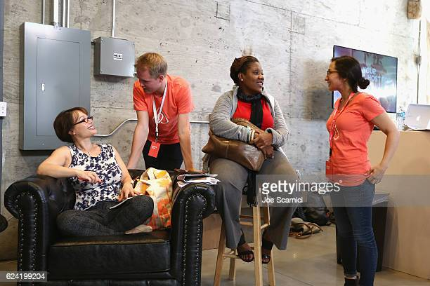 Guests attend Expand Your Business Host for Others at Skingraft during Airbnb Open LA Day 2 on November 18 2016 in Los Angeles California