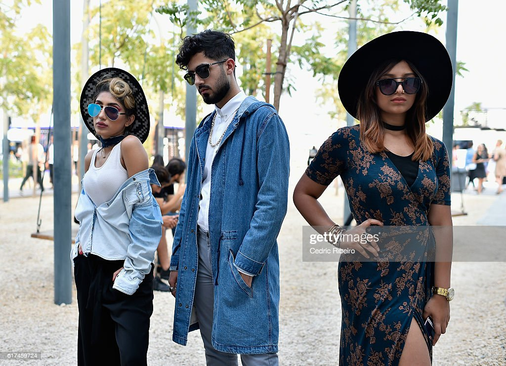 Guests attend Fashion Forward Spring/Summer 2017 at the Dubai Design District on October 23, 2016 in Dubai, United Arab Emirates.