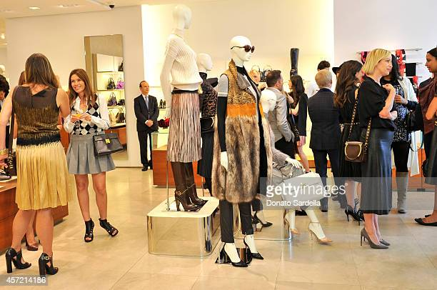 Guests attend Ferragamo Shopping Event with Jacqui Getty benefitting Baby2Baby at the Ferragamo Boutique on October 14 2014 in Beverly Hills...
