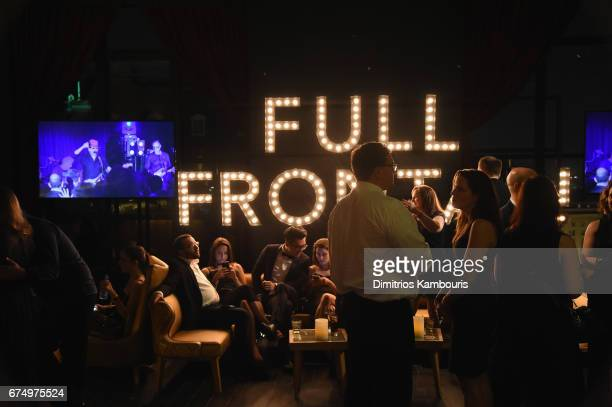 Guests attend Full Frontal With Samantha Bee's Not The White House Correspondents' Dinner After Party at the W Hotel POV Rooftop on April 29 2017 in...