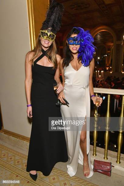 Guests attend HSA Masquerade Ball on October 23 2017 at The Plaza Hotel in New York City