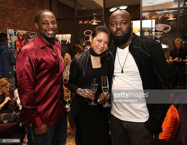 Guests attend Hublot Cocktail Reception with Artist Flore at Miami Design District on December 2 2016 in Miami Florida