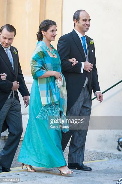 Guests attend Juan Zorreguieta and Andrea Wolf's wedding at palais Liechtenstein on June 7, 2014 in Vienna, Austria.