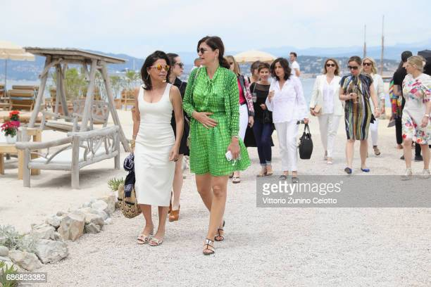 Guests attend Kering Women in motion lunch with Madame Figaro on May 22, 2017 in Cannes, France.