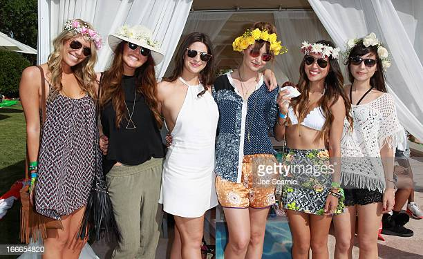 Guests attend LACOSTE LVE 4th Annual Desert Pool Party on April 14 2013 in Thermal California