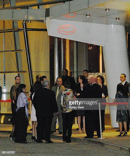 Guests attend Le Cirque for the wedding of Howard Stern and Beth Ostrosky at Le Cirque on October 3 2008 in New York City