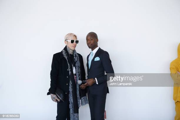 Guests attend Leanne Marshall show during February 2018 New York Fashion Week The Shows at Gallery II at Spring Studios on February 14 2018 in New...