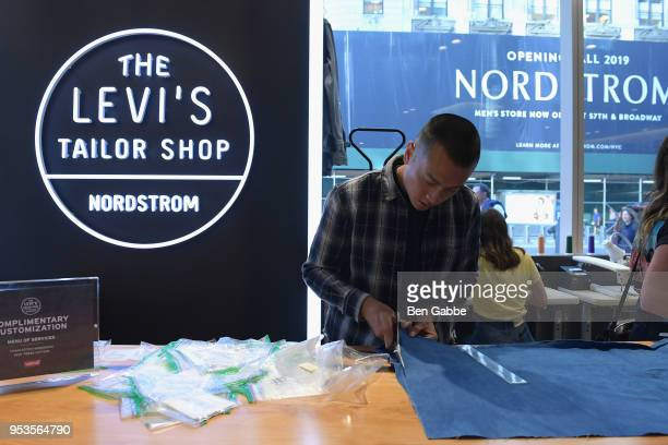 Guests attend Levi's Tailor Shop Launch Event At Nordstrom Men's Store NYC Hosted By Brooklyn Beckham on May 1, 2018 in New York City.
