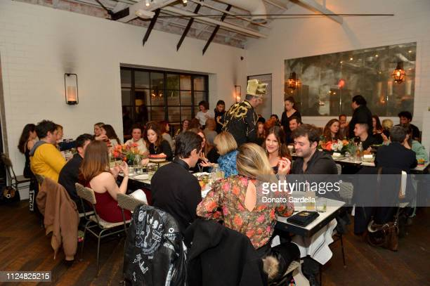 Guests attend Liz Goldwyn and MATCHESFASHIONCOM celebrate the launch of Frieze LA at Gracias Madre on February 13 2019 in West Hollywood California