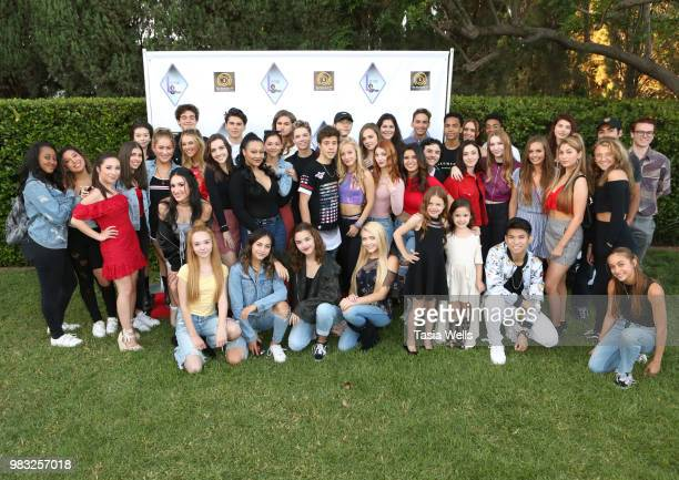 Guests attend Lofton Shaw's 18th birthday party on June 24 2018 in Northridge California