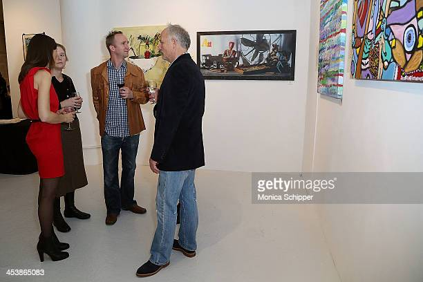Guests attend 'love art give a smile' Art Fashion And Design Benefit at Clen Gallery on December 5 2013 in New York City